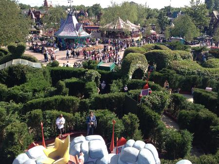 Aerial view of the maze