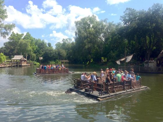 Tom Sawyer Island Rafts