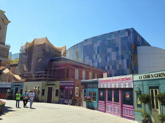 The former Terminator theater, transforming to Despicable Me