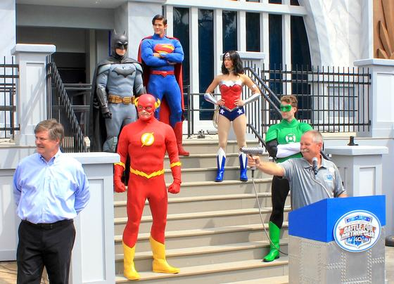 Opening the Justice League ride