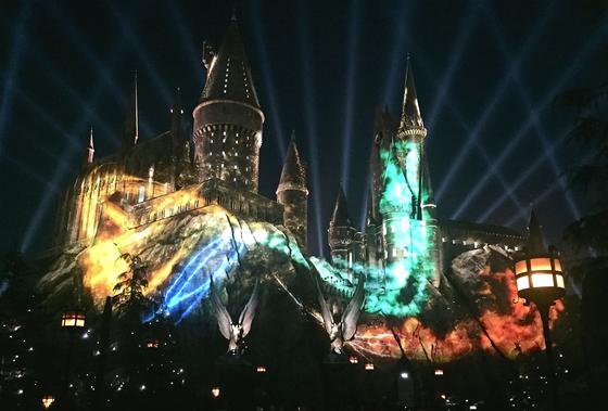 Photo of The Nighttime Lights at Hogwarts Castle