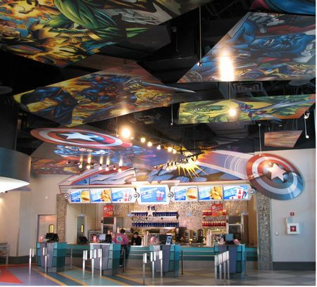 Captain America Diner photo, from ThemeParkInsider.com