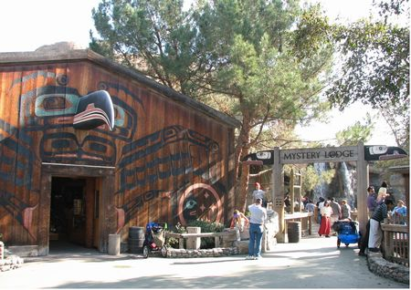 Exterior of Mystery Lodge