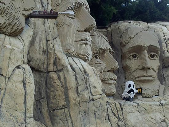 ghost at Mount Rushmore