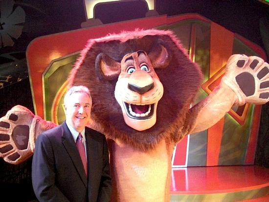 Busch Gardens' Park President Jim Dean and Alex the Lion