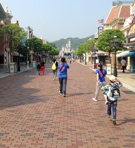 Main Street at Hong Kong Disneyland