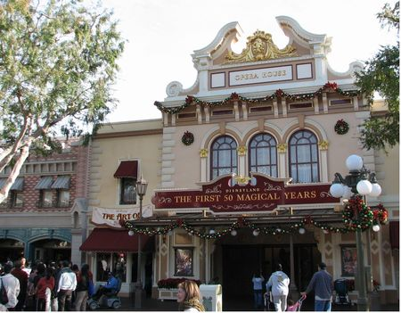 Main Street Opera House at Disneyland