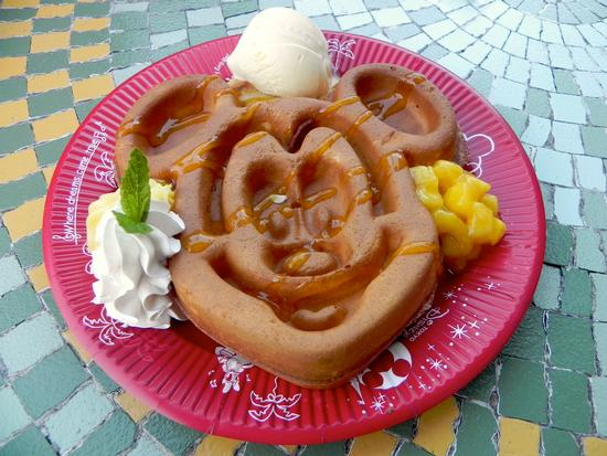 Mickey waffle, with toppings