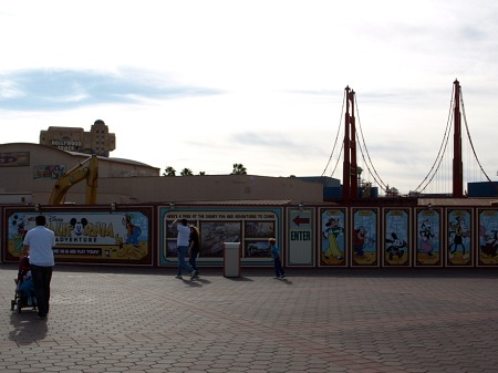 Plaza construction at Disney California Adventure