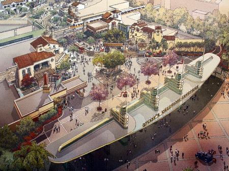 Concept art of the new California Adventure entry