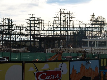 Cars Land construction