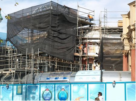 California Adventure construction