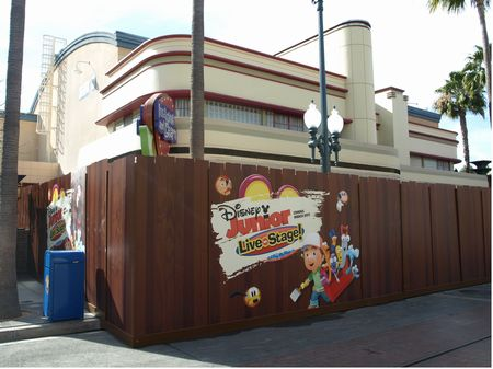 Disney Junior construction wall