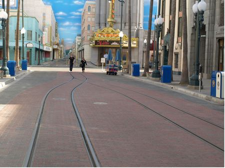 Red Car Trolley track