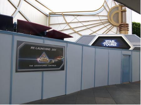 Star Tours construction wall