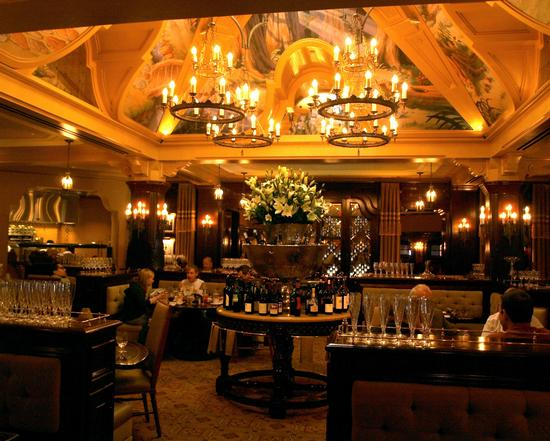 Inside the Carthay Circle Restaurant