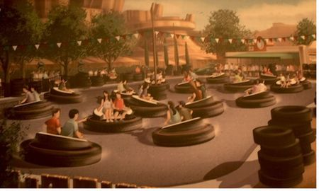 Luigi's Flying Tires photo, from ThemeParkInsider.com