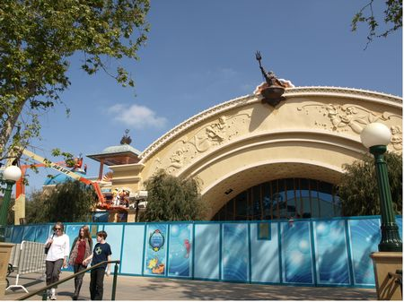 The Little Mermaid building at Disney California Adventure