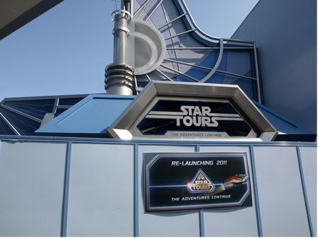 Star Tours 2, under construction at Disneyland