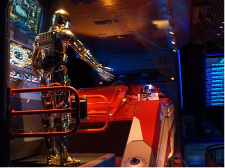 Inside the Star Tours queue