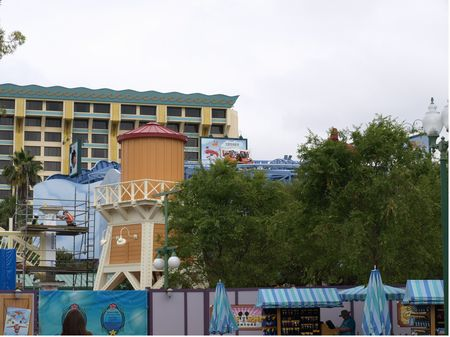 Goofy's Sky School under construction