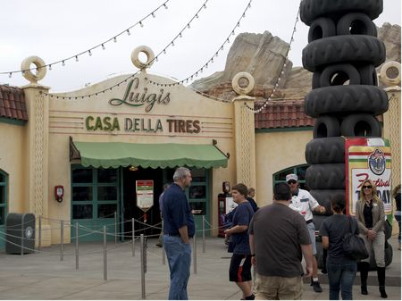 Outside Luigi's Flying Tires