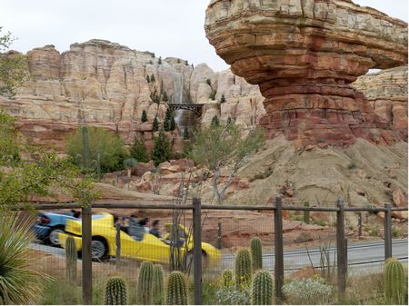 Racing through Cars Land