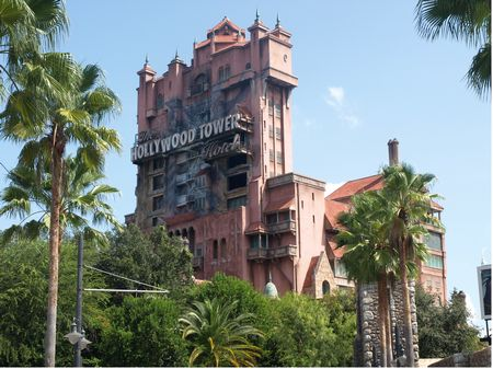 Twilight Zone Tower of Terror at Disney's Hollywood Studios theme park in Florida