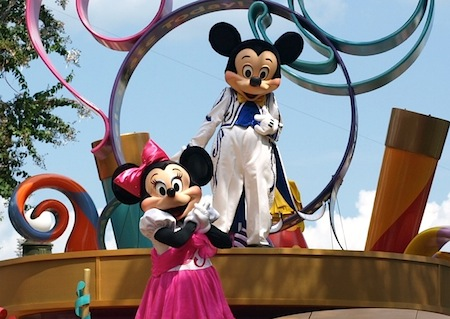 Mickey and Minnie in the Magic Kingdom's afternoon parade