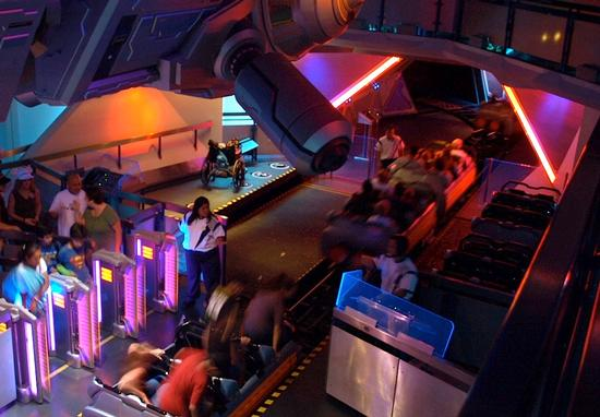 Space Mountain's alternate loading area