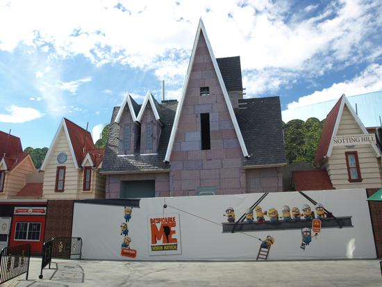 Despicable Me: Minion Mayhem, under construction at Universal Studios Hollywood