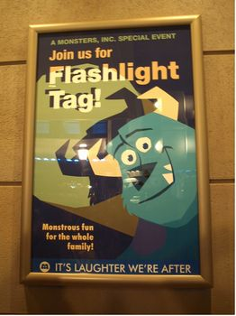 Flashlight tag sign
