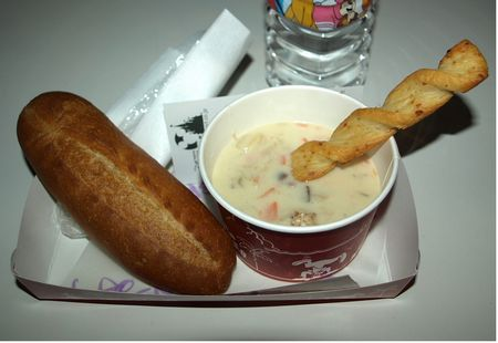 Scallop chowder at The Gazebo in Tokyo Disneyland