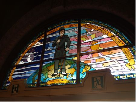 Harrison Hightower, in stained glass