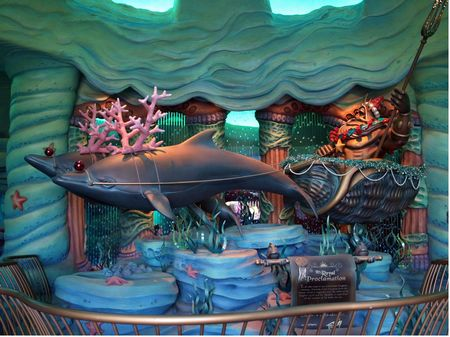 Triton's royal proclamation in Mermaid Lagoon, with a Christmas twist.