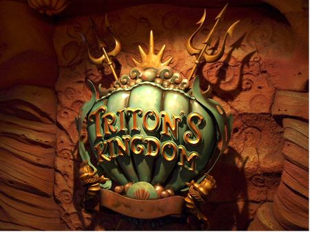 Sign at the entrance to Triton's Kingdom at Mermaid Lagoon.