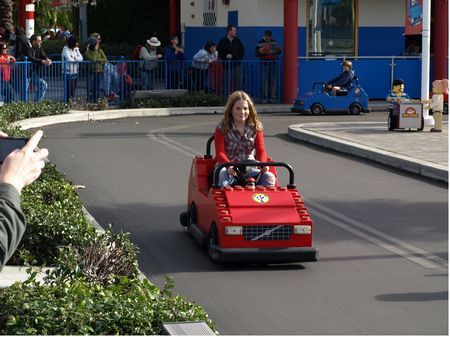 Natalie at the Legoland Driving School