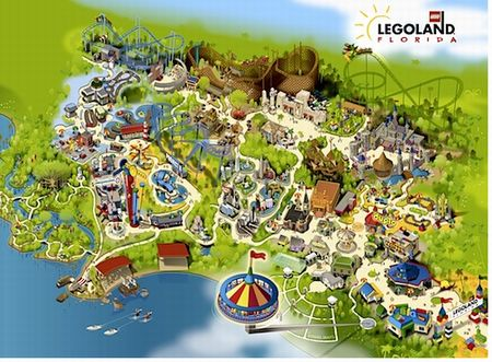 Park map of Legoland Florida