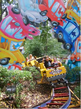 Taxi Jam Coaster photo, from ThemeParkInsider.com
