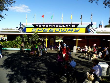 Tomorrowland Speedway photo, from ThemeParkInsider.com