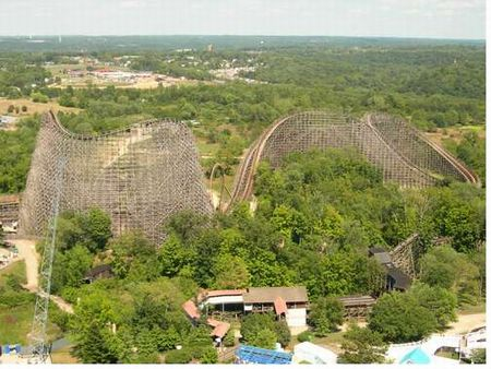 Son of Beast roller coaster at Kings Island