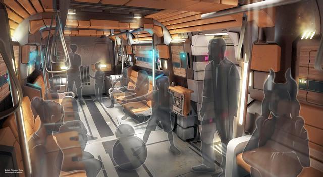 Galactic Starcruiser transport interior
