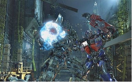 Optimus Prime battling Megatron