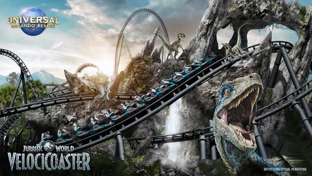 Jurassic World VelociCoaster key atr