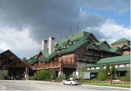 Wilderness Lodge entrance