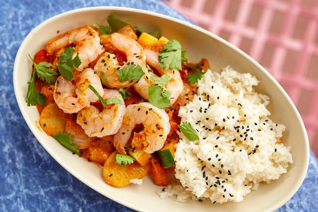 Curry Rice Bowl with Shrimp