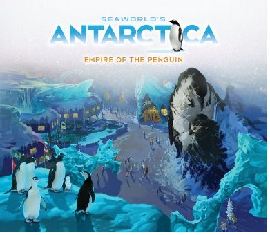 Concept art poster for Antarctica - Empire of the Penguin, from SeaWorld Orlando