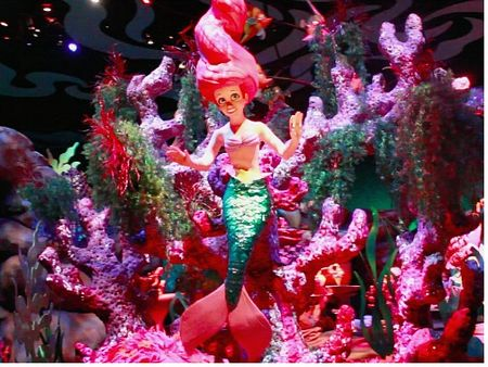 Ariel in the Under the Sea scene