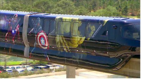 Avengers monorail overlay