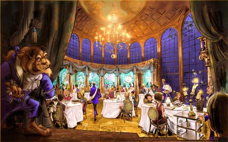 Be Our Guest Restaurant concept art courtesy Disney